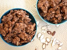 Choco-Coconut Granola....this can be cereal as well a better version of cocoa krispies.