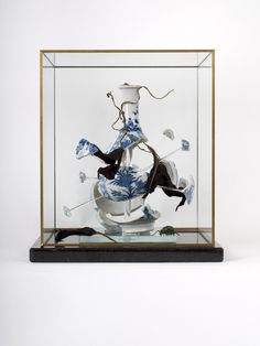 Dead nature,explode Kang xi vase, 2010. 18th century Kang Xi vase and mixed media.  280 x 280 x 310 mm. Private collection, The Netherlands....