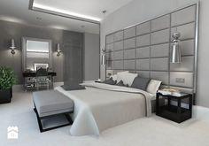 Sypialnia glamour w szarościach - zdjęcie od Design-Store - Sypialnia - Styl Glamour - Design-Store