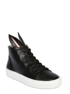 35e326da4073 20MM BUNNY CALFSKIN HIGH TOP SNEAKERS Luxury Shop