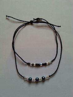 Bracelets noir blanc bleu