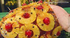Por Andy Tous para RecetasPuertoRico.com  Ingredientes  Jamón pre-cocido de 10 -12 libras (fresco o descongelado). ½cucharada de polvo de clavos de e