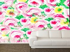You can buy this #photomural directly from the author on self-adhesive vinyl #flowers #flower #botanical #plant #botany #redoute #roses #rose #monet #floral #plants #bloom #blooms #rosa #bud #claude #gardening #horticulture #horticultural #coloured #engraving #lily #20th #21st #wall #walldecor #decoration