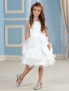 Girls' Formal Occasion Girls' Clothing (sizes 4 & Up) Half Sleeve Party Prom Princess Pageant Bridesmaid Wedding Flower Girl Dresses Neither Too Hard Nor Too Soft