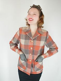 pendelton will NEVER be out of style Vintage Coat, Vintage Style, Vintage Country, 1940s Fashion, Vintage Fashion, Style Me, Cool Style, Vintage Wardrobe, Fashion Outfits