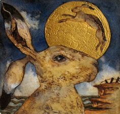 Watching Lunar Hare, Covehithe, by Mandy Walden