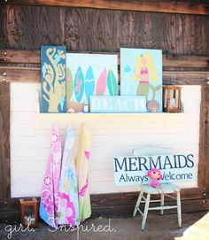 Girl. Inspired. {sewing, crafts, party inspiration}: Beach Signs - DIY