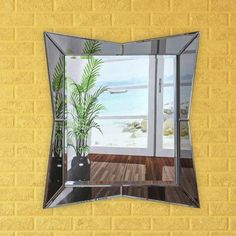 """Artistic Products Breeze Point Wall Mirror Size: 28"""" H x 24"""" W x 0.5"""" D"""