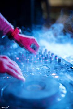 Dj playing music at sound mixer in night club | premium image by rawpixel.com Dj Pics, Dj Photos, Musician Photography, Party Photography, House Music, Music Is Life, Avicii, Dj Setup, Gaming Setup
