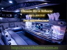 Vhalimos provides a wide range of Limousine hire services across Melbourne. Also, specialists in chauffeur cars. Call us on 0430579957 for limo hire. #limohiremelbourne #melbournelimousinestaxis #limousinehiremelbourne  http://www.slideshare.net/vhalimos/vha-limousine-car-hire