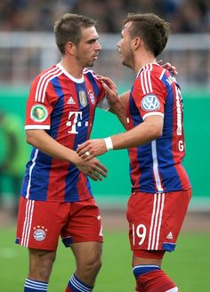 Lahm and Götze Look how cute they are!!! Love them!!!