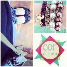 look - pulseiras cor de ideia #pulseirismo #cordeideia #caveirismo