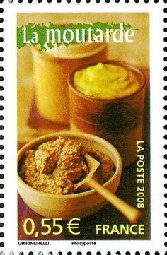 Stamp: Mustard (France) (Portraits of regions Yt:FR Food Stamps, Stamp Collecting, Postage Stamps, Portrait, Countries, Storage, Collection, Seals, Mustard