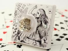 Alice in Wonderland themed Bedroom Light Switch, ´You´re Nothing But a Pack Of Cards!´ British Made Decorative Light Switch