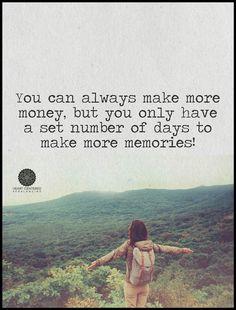 Money vs memories