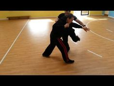 Pencak Silat Martial Arts. Quick Double block and take down. Self defense technique.