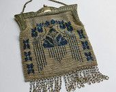Antique 1920's Deco French beaded purse