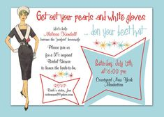 1950 Style Bridal Shower Invitation//50's 60's by Idowithyou, $2.00