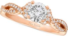 Le Vian® Bridal Diamond Engagement Ring (1-1/6 ct. t.w.) in 14k Rose Gold