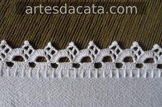 Kate's Crochet World Crochet Boarders, Crochet Edging Patterns, Crochet Lace Edging, Crochet Diagram, Doily Patterns, Crochet Trim, Love Crochet, Filet Crochet, Beautiful Crochet