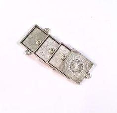 FidgetFidget 10pcs Antique Silver Bell Shape End Caps Beads Tassels Charms Pendants Findings