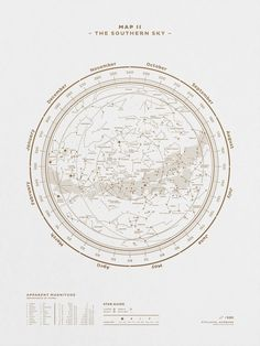 Map II — The Southern Sky (Gold/White)Stellavie Is The Most Beautiful Way To Get The Night Sky Onto Your Walls