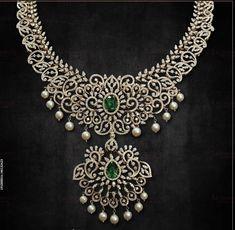 Emerald Diamond, Diamond Jewellery, Indian Jewelry, Jewlery, Jewelry Design, Style, Swag, Diamond Jewelry, Jewerly