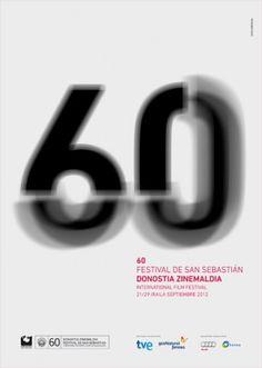 San Sebastian Film Festival 2012 festival, San Sebastian Reveals Official Poster for Edition Graphic Design Posters, Graphic Design Inspiration, Typography Design, Lettering, Graphic Tees, Poster S, Poster Prints, San Sebastian Film Festival, Cannes Film Festival 2015