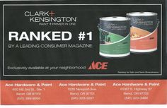Ace Clark & Kensington Paint ranked by Consumer Reports magazine. Ace Hardware Paint, Consumer Reports Magazine, Paint Primer