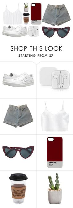 """♡"" by dozyman ❤ liked on Polyvore featuring New Balance Classics, American Apparel, MANGO, Pantone and Puebco"