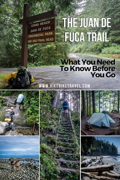 hiking backpack design Planning to backpack the 47 km Juan de Fuca Trail on the west coast of Vancouver Island? Vancouver Island, Banff, China Beach, West Coast Trail, Hiking Tips, Hiking Gear, Hiking Food, Hiking Pants, Camping Tips