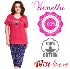 Pijamale Vienetta Secret, Bumbac 100%