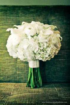 beautiful photo!  ----  Simply White and Stunning Bridal Bouquet Photographed by Miles Witt Boyer Photographer - The French Bouquet - Zinke Design