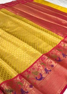 Sarees Online | Buy Sarees Online |@ ibuyfromindia.com Kora Silk Sarees, Kanjivaram Sarees, Fancy Sarees, Party Wear Sarees, Yellow Saree, Ethnic Sarees, Organza Saree, Work Sarees, Saree Dress