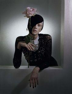 Black and Roses / Vogue Italia Oct 2012 / Kristen McMenamy / Tim Walker