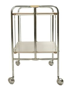 Vintage Swiss Design Folding Portable Bar | Serving Cart