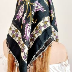 Scarf Hairstyles, Summer Hairstyles, Square Scarf, Lv Scarf, Womens Scarves, Head Wrap Scarf, Gifts For Women, Bohemian, Hippie Boho