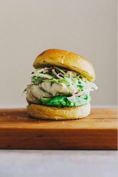 Grilled Halibut Sandwich with Jalapeno Slaw