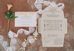 Boho Classic Fold-Out Wedding Invitations | Wedding & Party Ideas | 100 Layer Cake