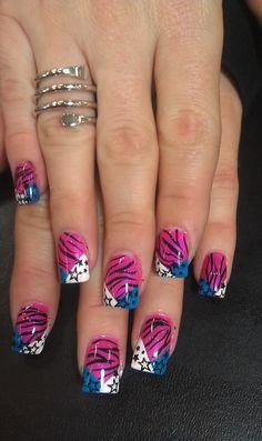 KAoTiK nail designs by April Davidson 559-908-1867.  Add me on Facebook www.Facebook.com/pediqueen