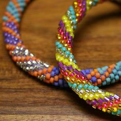 Bright multi-color fair trade Lily and Laura Bracelets - Click for details about free shipping!