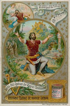 Tannhauser. Liebig card, late 19th century/early 20th century.