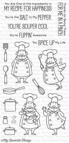 Birdie Brown Recipe for Happiness stamp set #mftstamps
