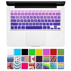 """DHZ® Big Font Violet Gradient Keyboard Cover Silicone Skin for MacBook Air 13"""" MacBook Pro 13"""" 15"""" 17"""" (with or w/out Retina Display) and iMac Wireless Keyboard  //Price: $ & FREE Shipping //    #gadget #gadgets #technology #innovation #invention #cool #crazy #absurd #fantastic #wow"""