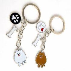 Pomeranian Samoyed Husky Schnauzer Corgi Yorkie Frenchie Dog Charm Key Chain  Price: 7.99 & FREE Shipping  #dogloversfeed #petlover #frenchies #doxies #pitbulls