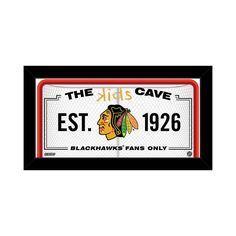 "Steiner Sports Chicago Blackhawks 10"" x 20"" Kids Cave Sign, Multicolor"