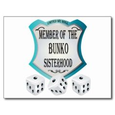 Customisable bunko gifts - t-shirts, posters, mugs, accessories and more from Zazzle. Choose your favourite bunko gift from thousands of available products. Bunco Party Themes, Adult Party Themes, Bunco Ideas, Party Ideas, Gift Ideas, Bunco Prizes, Bunco Game, Halloween Bunco, Bunco Gifts