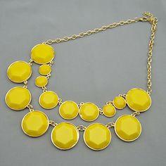 Drop Circles Bib Necklace – USD $ 7.79
