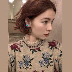Hair Color And Cut, Cut My Hair, New Hair, Hair Cuts, Asian Red Hair, Up Styles, Short Hair Styles, How To Make Hair, Hair Designs