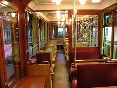 "one day i will!   [Inside the 'Kaiserwagen' by Late Red, via Flickr]    """"Wuppertal Schwebebahn or Wuppertal Floating Tram is a suspension railway in Wuppertal, Germany"""